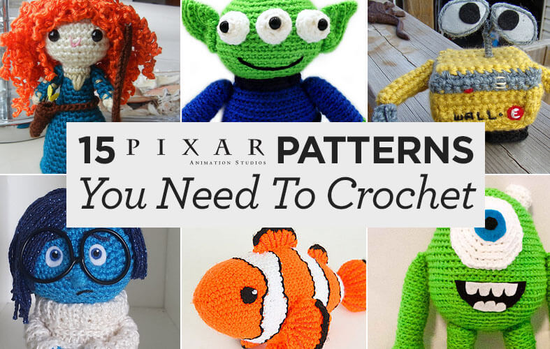 Knitting Pattern Toy Story Characters : Crochet 15 Pixar-Inspired Patterns - The Spinners Husband