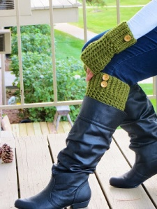 Boot Cuffs and Mittens Free Crochet Pattern