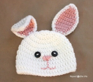 Free Crochet Pattern Baby Beanie With Brim : How To Crochet A Baby Beanie With Bunny Ears - The ...