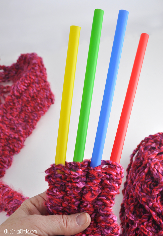 knitting with straws