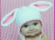 croched bunny baby ears