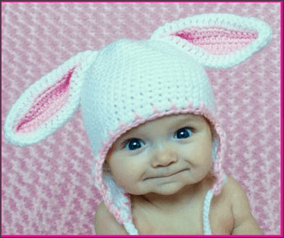 Free Crochet Pattern For Bunny Ears : How To Crochet A Baby Beanie With Bunny Ears - The ...