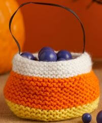 knit candy corn treat bag