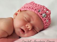 crochet baby crown