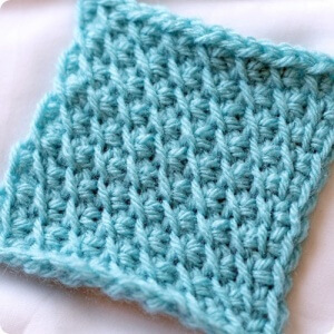 crochet tunisian bias stitch