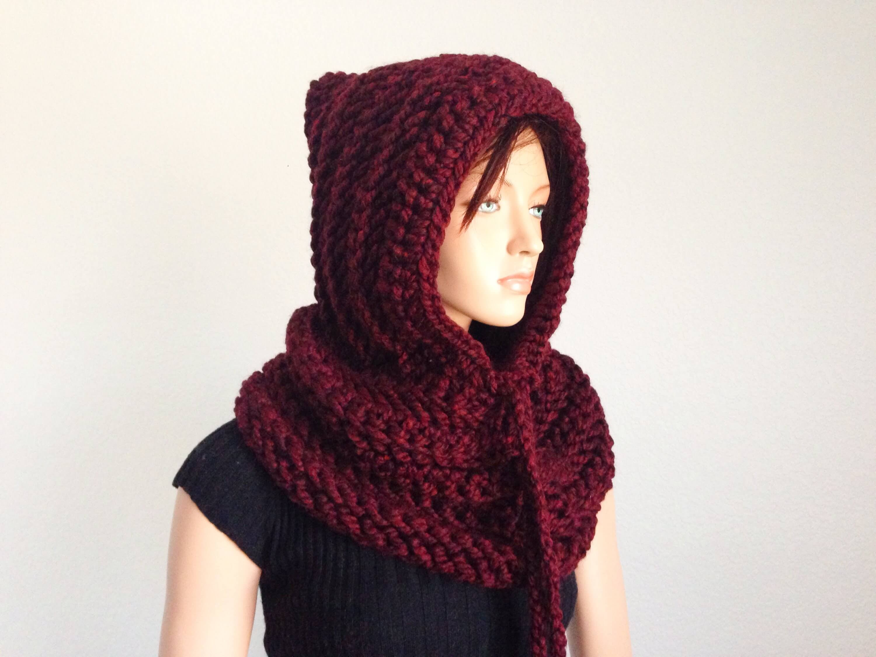 Free Knitting Pattern Hooded Neck Warmer : Crochet a Hooded Neckwarmer or Snood - The Spinners Husband