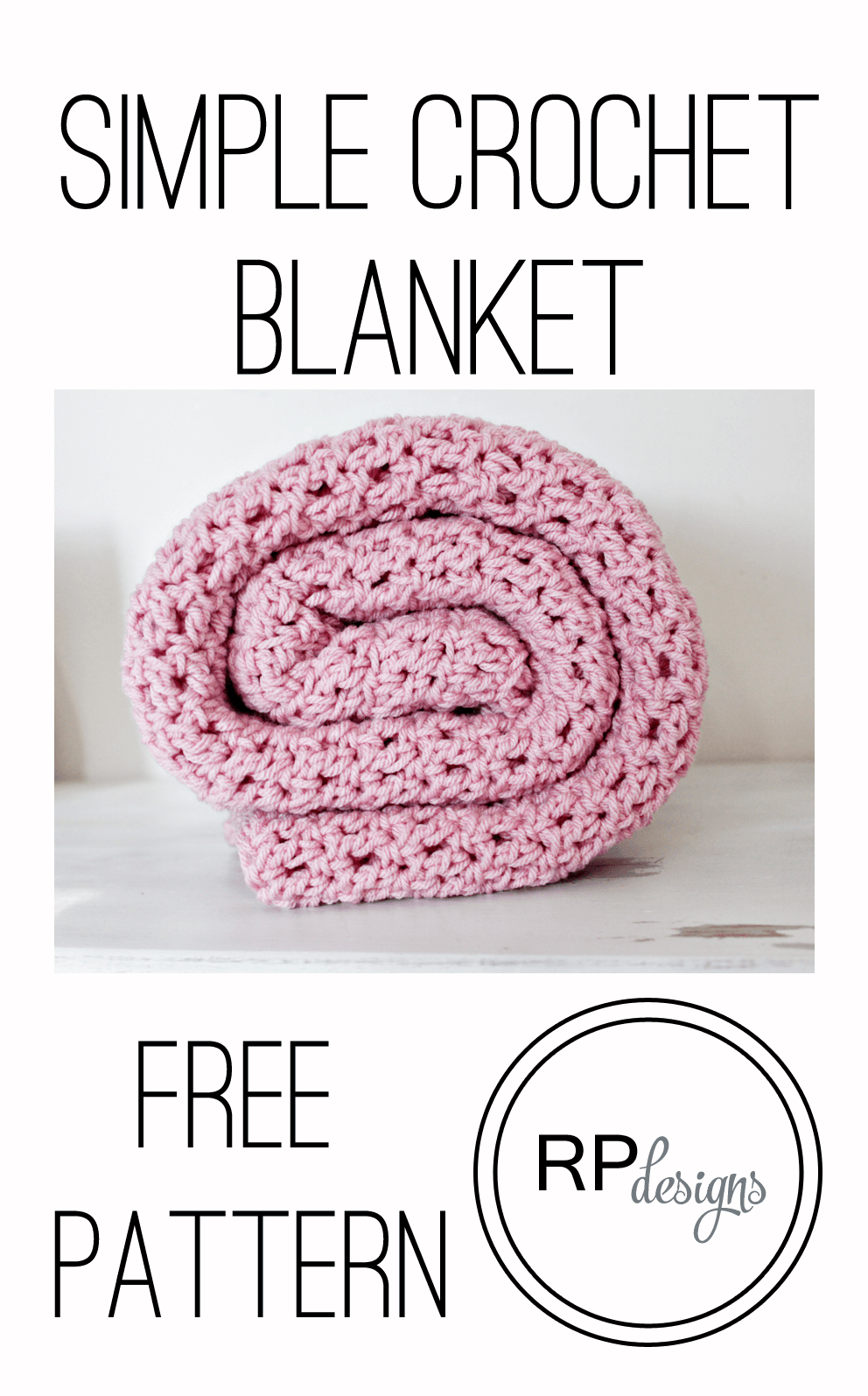 Free Simple Crochet Baby Blanket Pattern