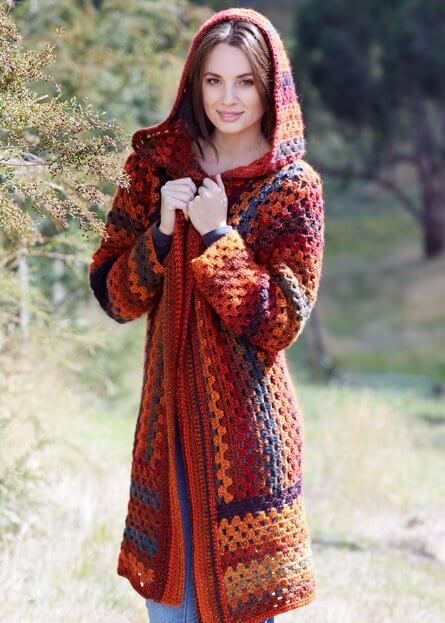 Free Hooded Jacket to crochet