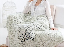 Free Super Quick Crochet Throw