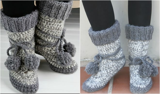 Crochet Free Patterns Boots : Crochet Some Toasty Warm Eskimo Boots! Free Pattern - The ...