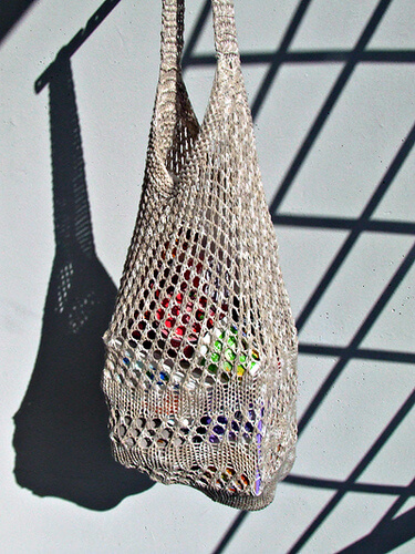 Knitting Pattern For A String Bag : Knit a Planet and Money Saving Market Bag - Free Pattern ...