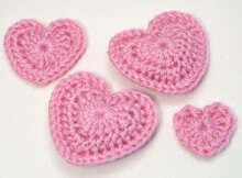 Free Crocheted Hearts Pattern
