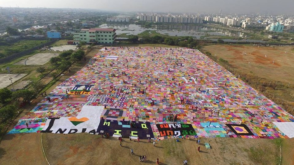 World's Largest Crochet Blanket!