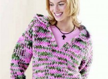 Free crochet hooded sweatshirt pattern