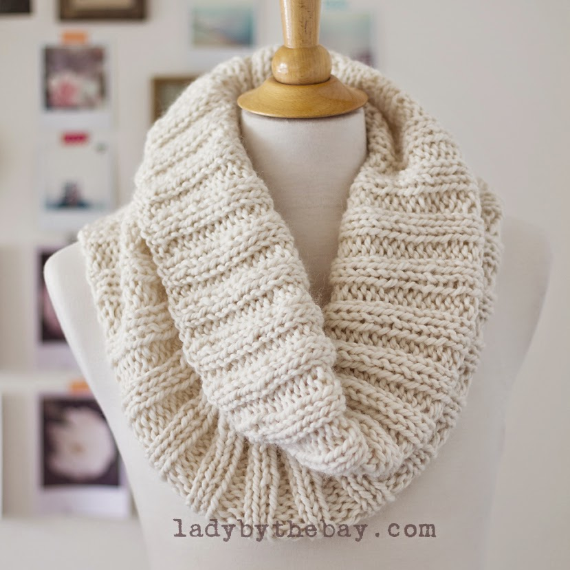 Knitting Pattern Cowl Scarf : Knit this Lovely, Drapey Cowl - Free Pattern - The Spinners Husband