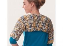 Free Knit Blissful Shrug Pattern