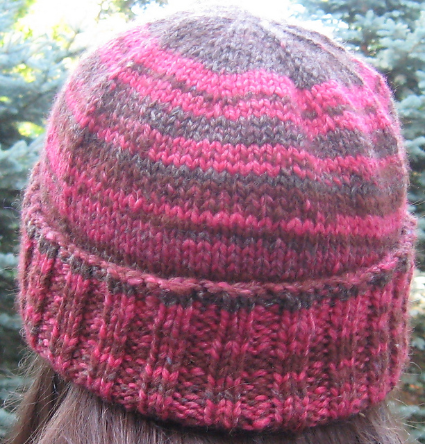 Knitting Top Down Patterns : Knit a top down hat for trying something different free