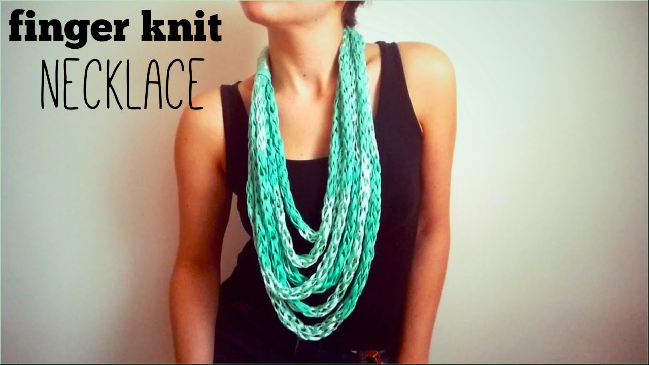 Finger Knitting Starting Knot : Who knew finger knitting such a beautiful necklace could