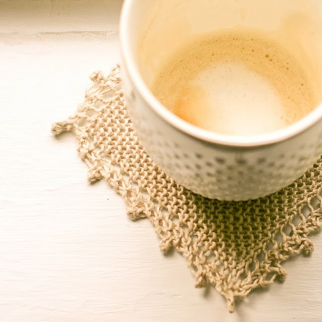 Knit this Free Cozy Coasters Pattern