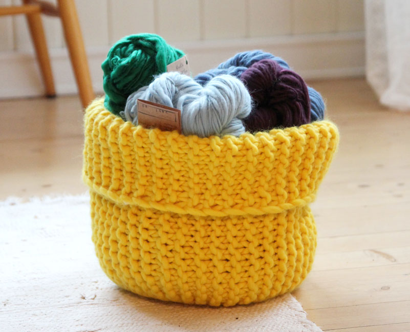 Letter Knitting Patterns : Knit these Handy Storage Baskets - Free Pattern! - The Spinners Husband