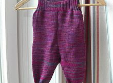knit sock yarn baby overalls