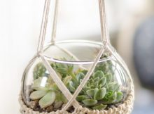 Knit terrarium holder