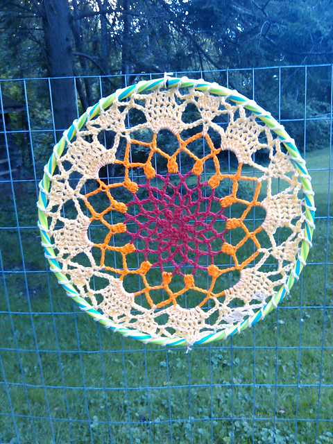 Crochet Giant Mandala Dream Catcher