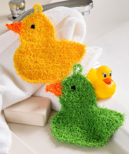 Crochet Rubber Duckie Scrubbies