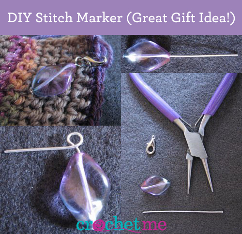 crochet stitch marker tutorial