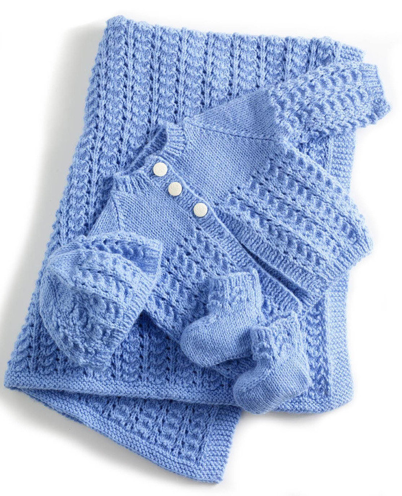 Knitting Crochet Patterns : Knit this adorable baby layette the spinners husband