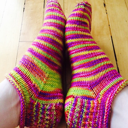 Knitted Ankle Socks Patterns Free : Knit your way to Rose City! - The Spinners Husband