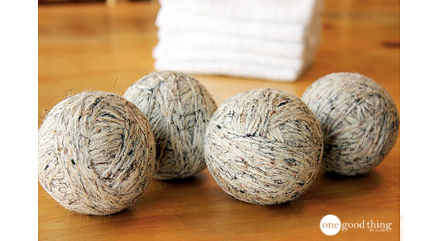 Re-purpose old wool yarn into dryer balls