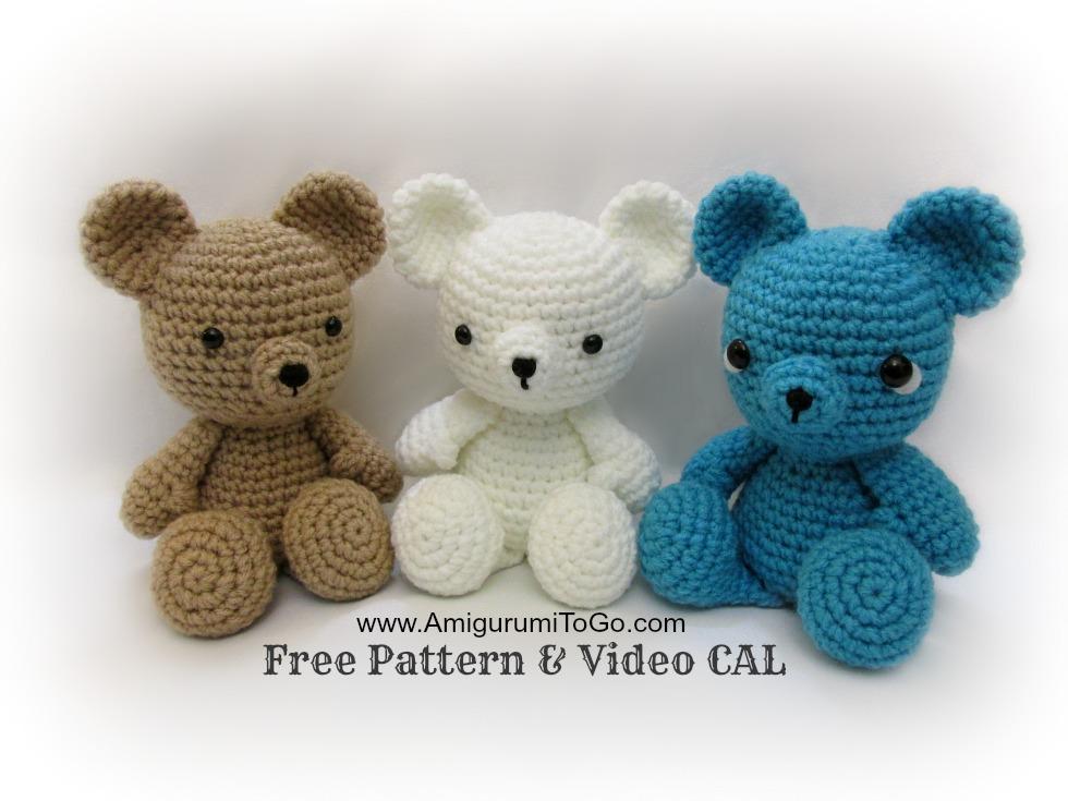 free crochet bear pattern