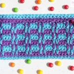 crocheted rib stitch