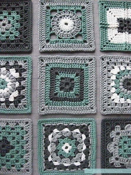 Triple Puff Crochet Granny Square Free Pattern The Spinners Husband