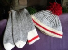 crochet sock hat