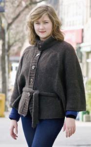 Constatine knit cape
