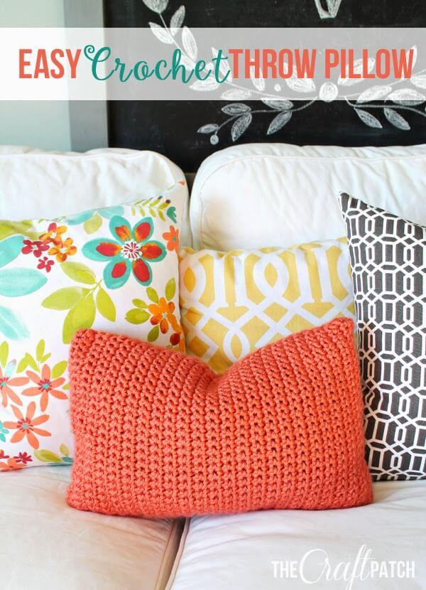 crochet throw pillow
