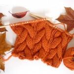 knit pumpkin halloween scarf