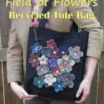 knit flower bag