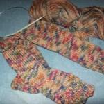 two needle knit socks