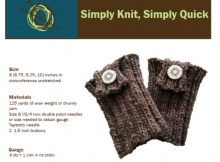 Free Basic Knit BootCuff Pattern