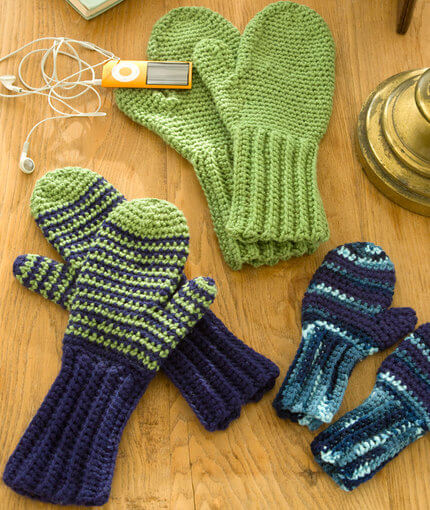 Crocheted Mittens Free Pattern The Spinners Husband