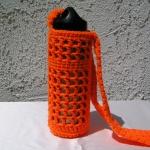 Crocheted Mesh Water Bottle Carrier