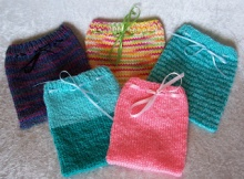 Free Knit Gift Pouches