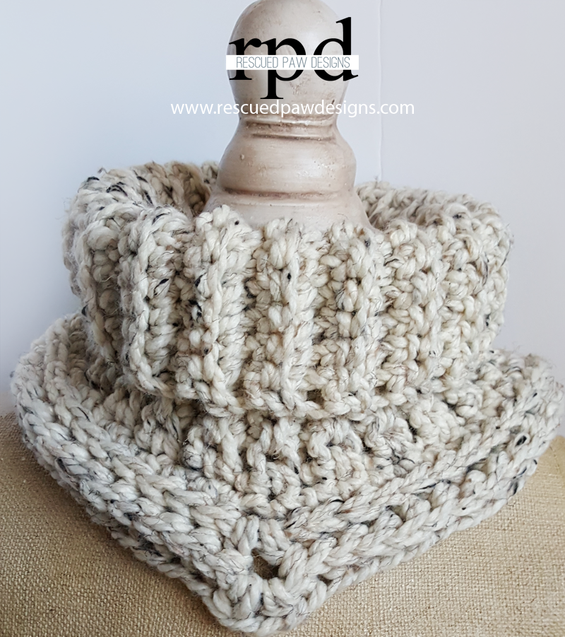 Free Crochet Pattern For Quick And Thick Cowl The Spinners Husband