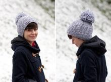 Anthropologie Inspired Free Pom-Pom Knit Hat Pattern
