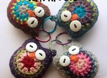 Free Crochet Owl Keychain pattern