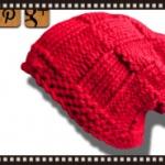 Free Knit BasketWeave Beanie Pattern