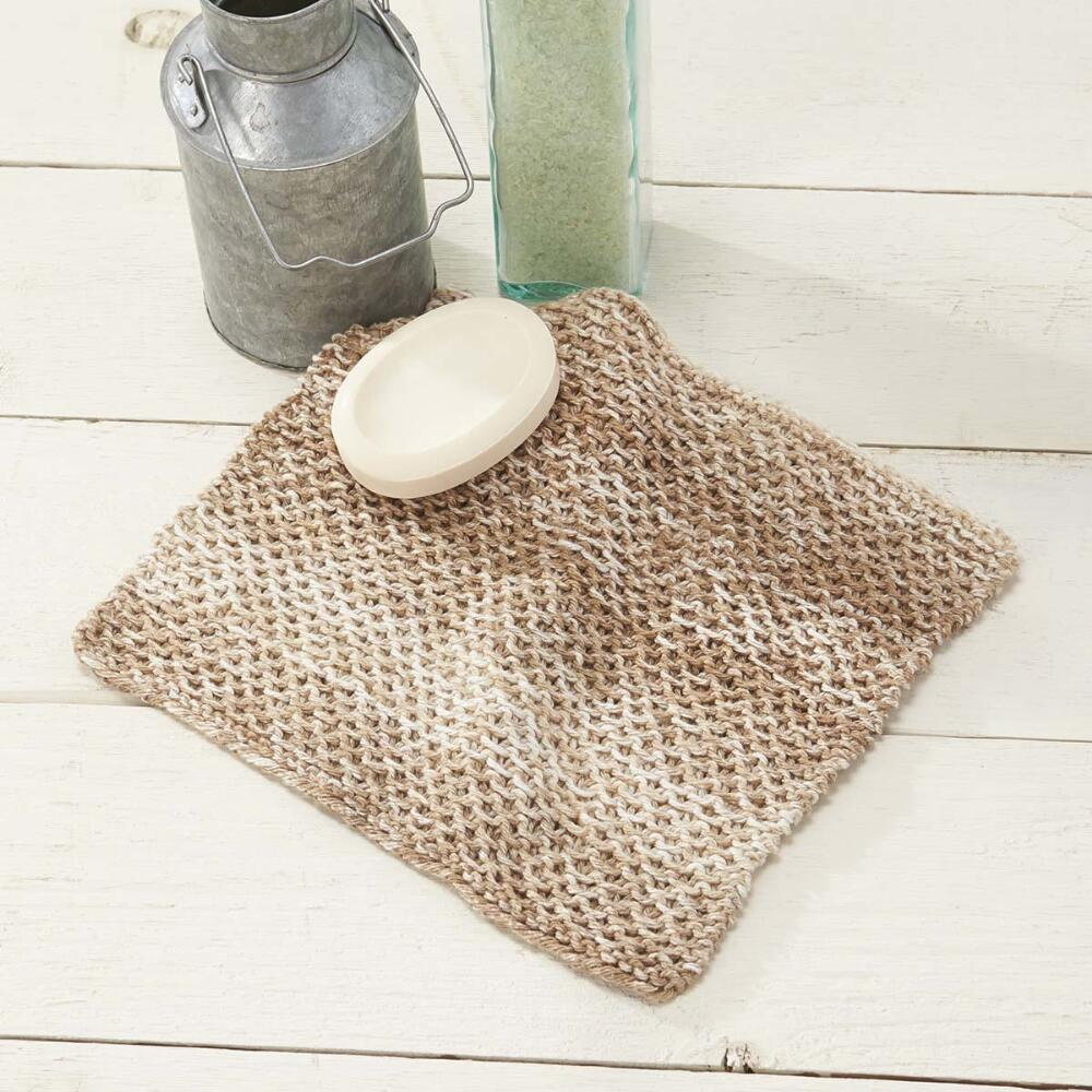 Free Knit Honeycomb washcloth pattern